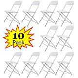 Cheap Plastic Folding Chairs JAXPETY 10PCS Plastic Folding Chairs Wedding Banquet Seat Premium Party Event Chair White