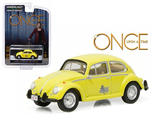 Model Green Car - New 1:64 Hollywood Series 14 Collection - ONCE UPON A TIME - YELLOW EMMA'S VOLKSWAGEN BEETLE Diecast Model Car By Greenlight