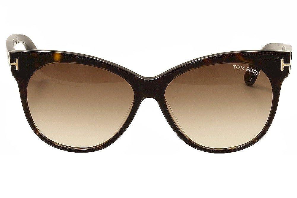 b47f4682869fe Amazon.com  TOM FORD Sunglasses FT0330 56F Havana 57MM  Shoes