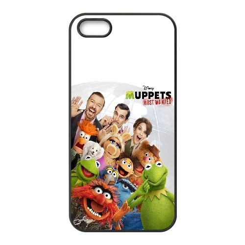 Muppets Most Wanted coque iPhone 4 4S Housse téléphone Noir de couverture de cas coque EOKXLKNBC23562