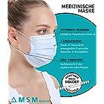 MSM-Mund-und-Nasenschutz-Maske-Medizinische-Maske-mit-Maskenhalter-Typ-II-98-BFE-Mundschutz-Maske-3-lagige-Einwegmasken-Atemschutzmaske-30-Stck-blau