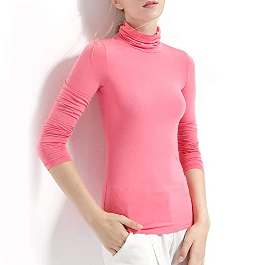 OLDWANG suéter de Cuello Polo para Mujer, Cuello Redondo, Manga ...