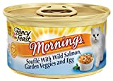 Purina Fancy Feast Mornings Souffle with Wild Salmon, Garden Veggies and Egg, 3 oz. cans, 24 count, My Pet Supplies
