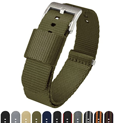 BARTON Jetson NATO Style Watch Strap - 18mm 20mm 22mm or 24mm - Army Green 22mm Nylon Watch Band