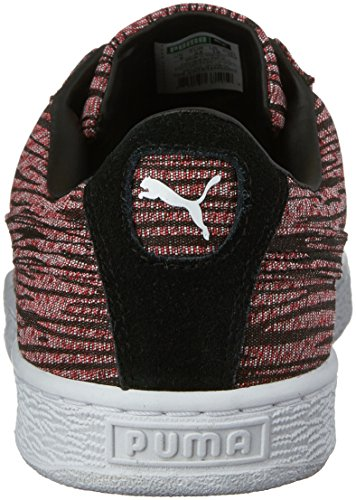 Cestino da uomo Classic Tiger Mesh Fashion Sneaker, Red Blast / Puma Black, 9.5 M US