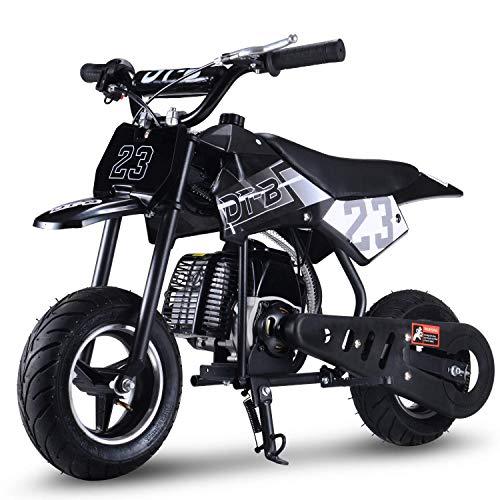 SAY YEAH 51cc 2-Stroke Gas Dirt Bike Kids Mini Scooter Off Road Racing Motorcoss Bike(EPA Registered, No CA Sales) (Black)