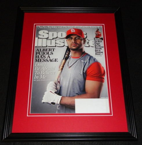 2009 Sports Illustrated Cover - Albert Pujols Framed 11x14 ORIGINAL 2009 Sports Illustrated Cover Cardinals