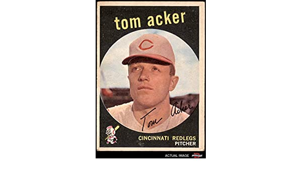 Verzamelkaarten: sport 1958 Topps #149 Tom Acker Cincinnati Reds Baseball Card Honkbal