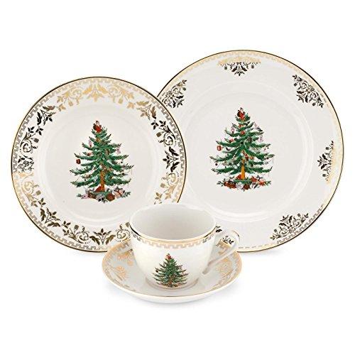 Spode Christmas Tree Gold 4-Piece Place Setting (Spode Christmas Dinnerware)
