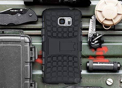 (Cocomii Grenade Armor Galaxy S6 Active Case New [Heavy Duty] Premium Tactical Grip Kickstand Shockproof Bumper [Military Defender] Full Body Rugged Cover for Samsung Galaxy S6 Active (G.Black))