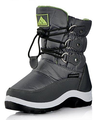 Nova Mountain Little Kid's Winter Snow Boots,NF NFWB737 Purple 8