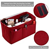 Purse Organizer Insert, Felt(3MM) Fabric Bag Organizer for LV Neverfull, LV Speedy, Purse Handbag Tote Bag, 3 Sizes, 8 Colors