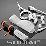 SODIAL(R) Black 4GB Underwater Sport Waterproof Swimmer MP3 Player For Swimming Hot Spring