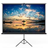 "PC Hardware : TaoTronics Projector Screen with Stand, TT-HP020 Indoor and Outdoor Movie Screen 120"" Diagonal 4:3 with Wrinkle-Free Design (Easy to Clean, 1.1 Gain, 160° Viewing Angle and Includes a Carry Bag)"