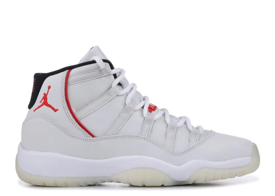 Jordan Kid's Air 11 Retro GS, Platinum Tint/SAIL-University RED, Youth Size 5 by Nike (Image #2)