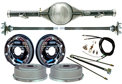 NEW CURRIE 60-62 CHEVY C-10 TRUCK 2WD 5-LUG REAR END WITH 11'' DRUM BRAKES, BRAKE LINES, PARKING BRAKE CABLES, AXLES, BEARINGS, 9'' FORD, 1960 1961 1962 CHEVROLET C10 GMC C15 C1500 WITH TRAILING ARMS by Southwest Speed