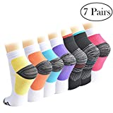 Best Foot Socks - 7 Pairs Compression Socks for Women and Men Review