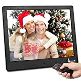 "BSIMB M13 Digital Picture Frame 10"" FHD Video (1080P) /Photo/Music Player 4:3 Hi-Res IPS LCD Screen Electronic Picture Frame with 4GB Storage/Alarm/Clock/Calendar/Infrared Remote Control(Black)"