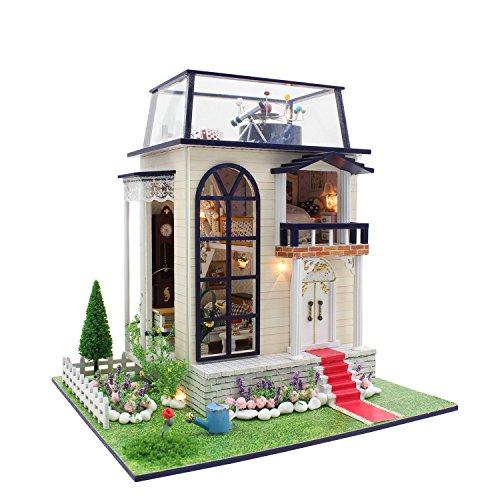 DIY Led ` Princeローズ城「ドールハウスミニチュアハウスキットDIYクリエイティブ部屋ギフトおもちゃの商品画像