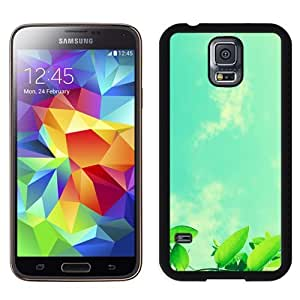 Beautiful Custom Designed Cover Case For Samsung Galaxy S5 I9600 G900a G900v G900p G900t G900w With Green Leaves Under The Blue Sky Phone Case