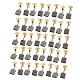 uxcell 20 Pairs 16x17x7mm Carbon Brushes Power Tool for Electric Hammer Drill Motor