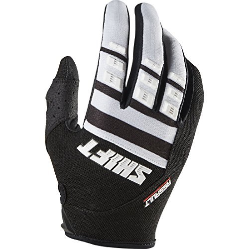 Shift Racing Assault Race Men's MX Motorcycle Gloves - Black/White / Small