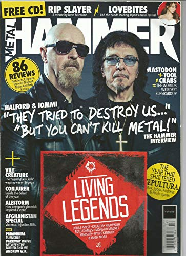METAL HAMMER MAGAZINE ISSUE 307 APRIL 2018 ISSUE W/FREE CD,