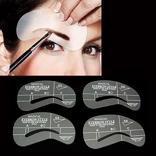 Ochioly 24 Pcs Pro New Eyebrow Shaping Stencil Set Grooming Tools Drawing Card For Dashing Eyebrows