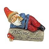 Garden Gnome Statue – Gideon the Garden Gnome Welcome Sign – Lawn Gnome Review