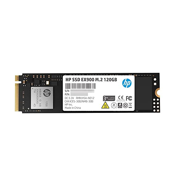 HP EX900 M.2 120GB PCIe 3.1 x 4 NVMe 3D TLC NAND Internal Solid State Drive (SSD) Max 1900 MBps 2YY42AA#ABC Internal Solid State Drives at amazon