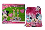 Disney Jr. Minnie Mouse Water Play 35'' Spray Mat! Splashing Outdoor Fun! Featuring Minnie & Daisy Duck! Plus Bonus Minnie Outdoor Pool/Beach Bag!