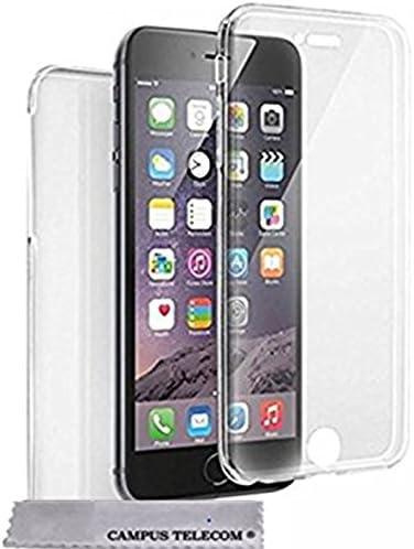 Custodia integrale in gel silicone per iPhone 6 / 6s trasparente