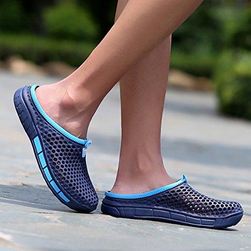 welltree - Zapatillas de estar por casa de Material Sintético para hombre Azul
