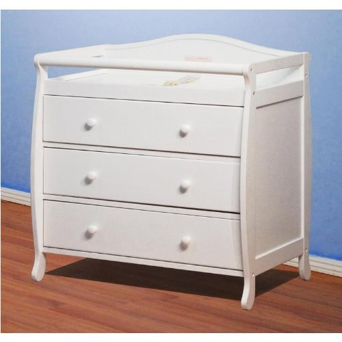 - Athena Grace 3 Drawer Changer Dresser with Tray