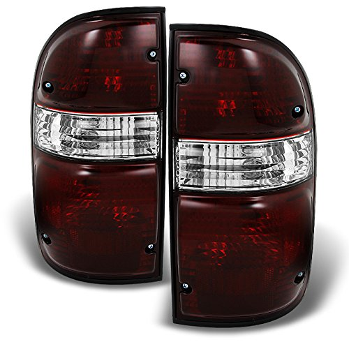 For Toyota Tacoma Pickup Dark Red Tail Lights Brake Lamps Driver Left + Passenger Right Replacement Pair