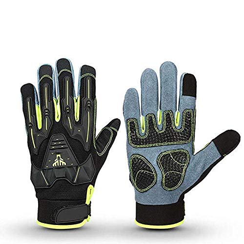 FTFTFTF Protective Gloves,Motorcycle Winter Gloves Leather Anti-Collision Gloves, Windproof and Wearable,1,L