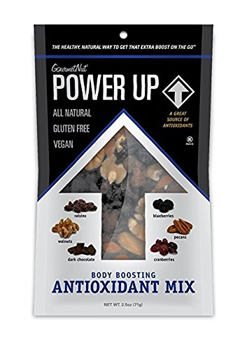Power Up Trail Mix 100% Natural 8 Snack Bags Protein Packed, Antioxidant Mix, Almond Cranberry Crunch, Mega Omega by Gourmet Nut (Image #8)