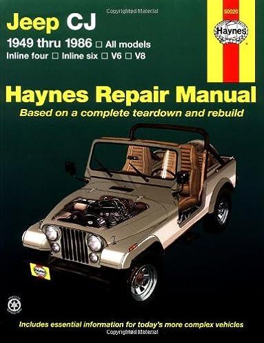 51bpipE8q9L._SX383_BO1204203200_ jeep cj '49'86 (haynes repair manuals) larry warren, john h jeep repair diagrams at cos-gaming.co