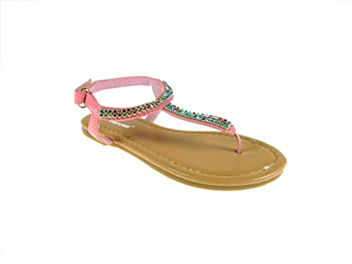 558481845 Ositos Infants 2710 Girls Multicolored Gems Strap Sandals