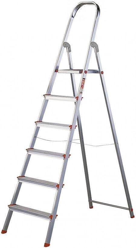 Rolser S.A. - Escalera Aluminio 6 peldaños: Amazon.es: Hogar