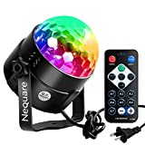 Nequare Party Lights Disco Ball Sound Activated Strobe Light 7 Lighting Color Disco Lights with Remote Control for Bar Club Party DJ Karaoke Wedding Show and Outdoor(3W) (1 PACK)