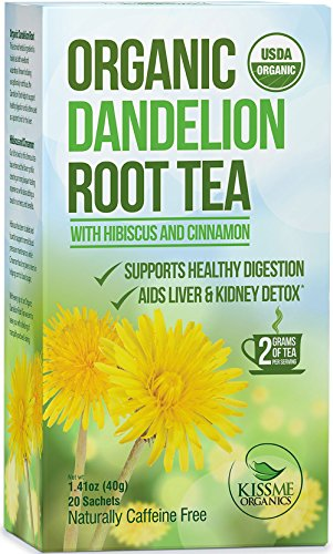[Dandelion Root Tea - Raw Organic Vitamin Rich Digestive - 1 Pack (20 Bags 2 Grams Each) - Detox Tea - Ideal to Help Improve Digestion and Strengthen Immune System - Anti-inflammatory and Antioxidant] (Optimum Flavored Vitamins)