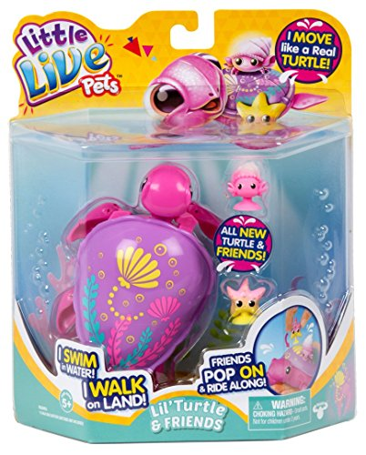 Sandy Turtle - Shopkins Little Live Pets S6 Turtle Single Pack-Sandy The Tropical Childrens Toy