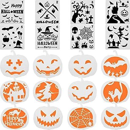 Outus 20 Pièces Ensemble De Pochoir D Halloween Modèles De