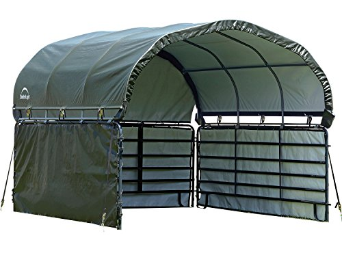 Outdoor Shelter (ShelterLogic Enclosure Kit for Corral Shelter 12 x 12 ft - Green)