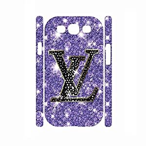 Samsung Galaxy S3 I9300 Carcasa Cell Phone Cover-Uncommon Louis Cool Vuittons Brand Mark Print On Cell Phone Caes