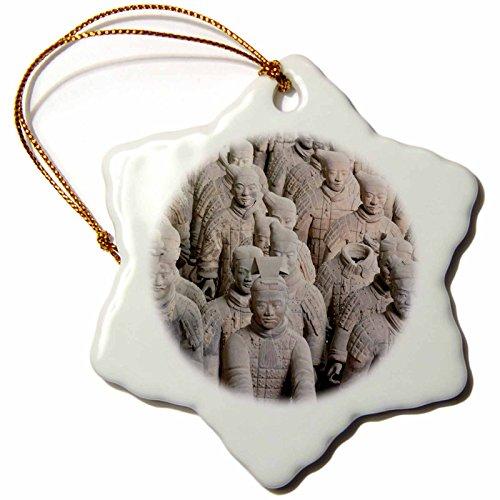 China Snowflake Ornament (3dRose orn_75527_1 Qin Terra Cotta Warriors and Horses, Xian, China-AS07AJE0178-Adam Jones-Snowflake Ornament, Porcelain, 3-Inch)