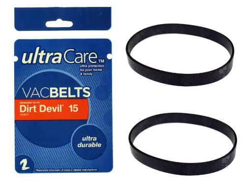2 UltraCare VacBelts Dirt Devil Dynamite Style 15 Replacemen