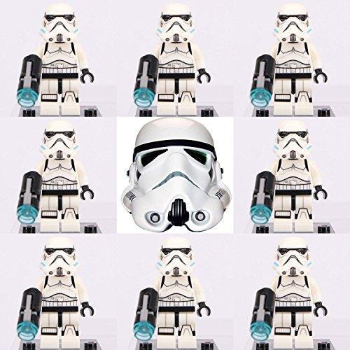 8 Pcs set Star Wars Stormtrooper Custom Lego Minifigures building Toy