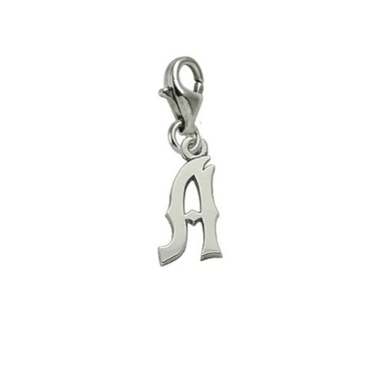 Initial A Charm With Lobster Claw Clasp Charms for Bracelets and Necklaces